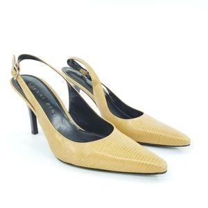 Gianni Bini | Leather Slingback Pointed Toe Heel 7
